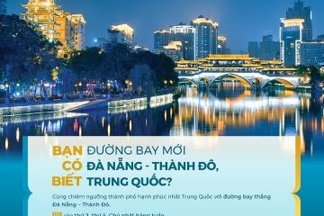 Vietnam Airlines mở đường bay mới Đà Nẵng - Thành Đô