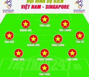 SEA Games 30: U22 Việt Nam vs U22 Singapore