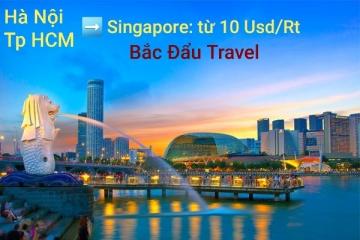 Vé khứ hồi cực rẻ đi Singapore từ Hà Nội, Sài Gòn