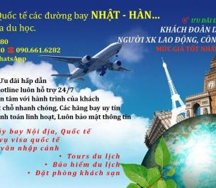 Vé máy bay từ VIỆT NAM ✈ HÀN ✈ NHẬT mùa du học