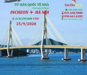 Đón công dân VN về nhà với INCHEON ✈ HÀ NỘIngày 25/9