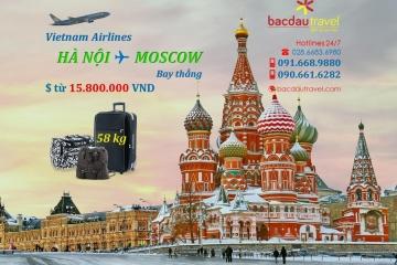 Bay thẳng HÀ NỘI✈ MOSCOW ngày 15/10/2020