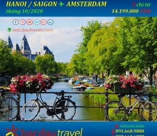 Lịch bay HANOI / SAIGON✈ AMSTERDAM tháng 10/2020