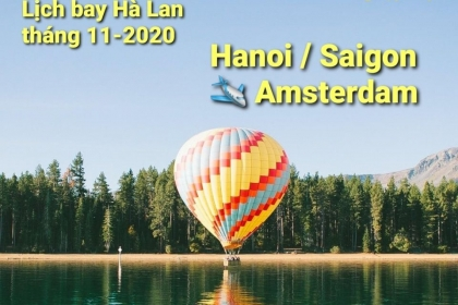 HA NOI / SAI GON - AMSTERDAM tháng 11/2020