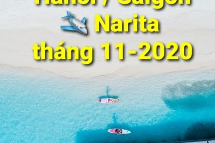 HÀ NỘI/ SÀI GÒN ✈ NARITAtháng 11/2020
