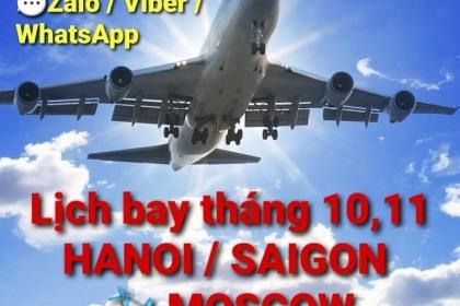 HÀ NỘI/ SÀI GÒN ✈ MOSCOW tháng 11/2020