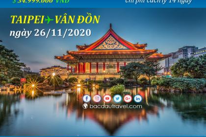 Đón người Việt từ TAIPEI ✈ VÂN ĐỒNngày 26/11/2020