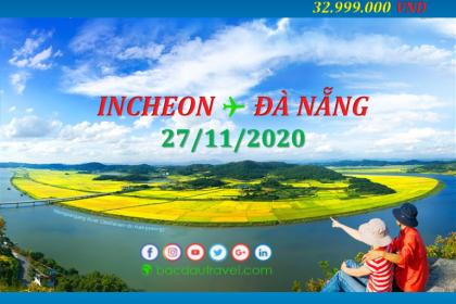 Đón người Việt từ INCHEON ✈ ĐÀ NẴNG ngày 27/11/2020