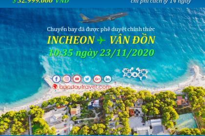 Đón người Việt từ INCHEON ✈ VÂN ĐỒN ngày 23/11/2020