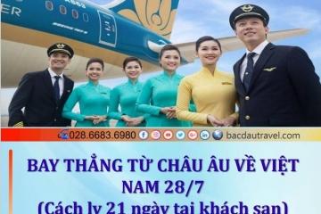 CHARTER FRANKFURT - CAM RANH KHỞI HÀNH 28/7/2021